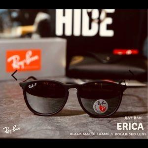Ray Ban Erika Polarized Matte Black RB4171 New